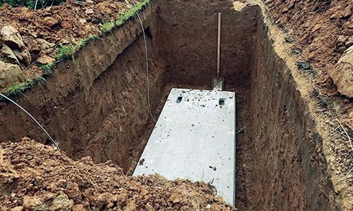 Установка бетонного основания